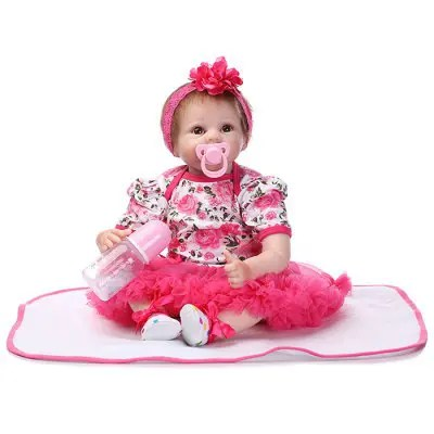 NPK Soft Silicone Real Looking Reborn Baby Doll Toy for Baby