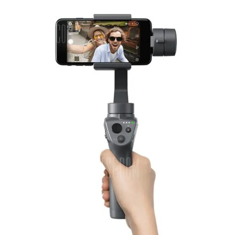 Gearbest DJI OSMO Mobile 2 Handheld Gimbal Stabilizer for Smartphone - BLACK DJI OSMO Mobile 2 Handheld Gimbal Stabilizer Active Track Motionlapse Zoom Control for Smartphone