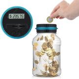 Digital Money Saving Jar LCD Display US Coins Piggy Bank