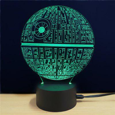 Gearbest Shining Creative 3D LED Lamp The Death Star Shape Table Lamp
