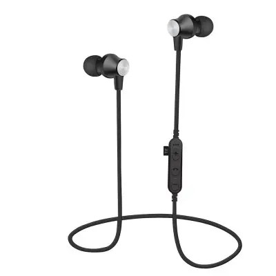 Bluetooth V4.2 Headphones In-Ear Wireless Earbuds Magnetic Sweatproof Stereo Earphones with Microphone 6 Hours Play Time, Noise Cancelling with TF Card Slot for Running / Jogging