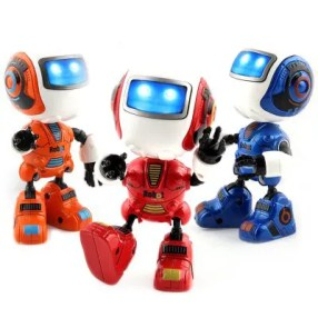 Gearbest New Intelligent Mini Alloy Robot with Induction Feel is Muti_function the Light Music