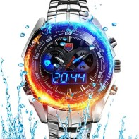 TVG Brand Digital Watch Men Sport Waterproof Quartz Clock Analog Fashion Luminous LED Watch Wristwatches