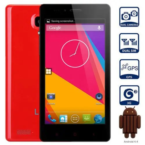 LKD F2 Android 4.4.2 3G Phablet with 5.0 inch WVGA Screen MTK6582 1.3GHz Quad Core 4GB ROM GPS Dual Cameras