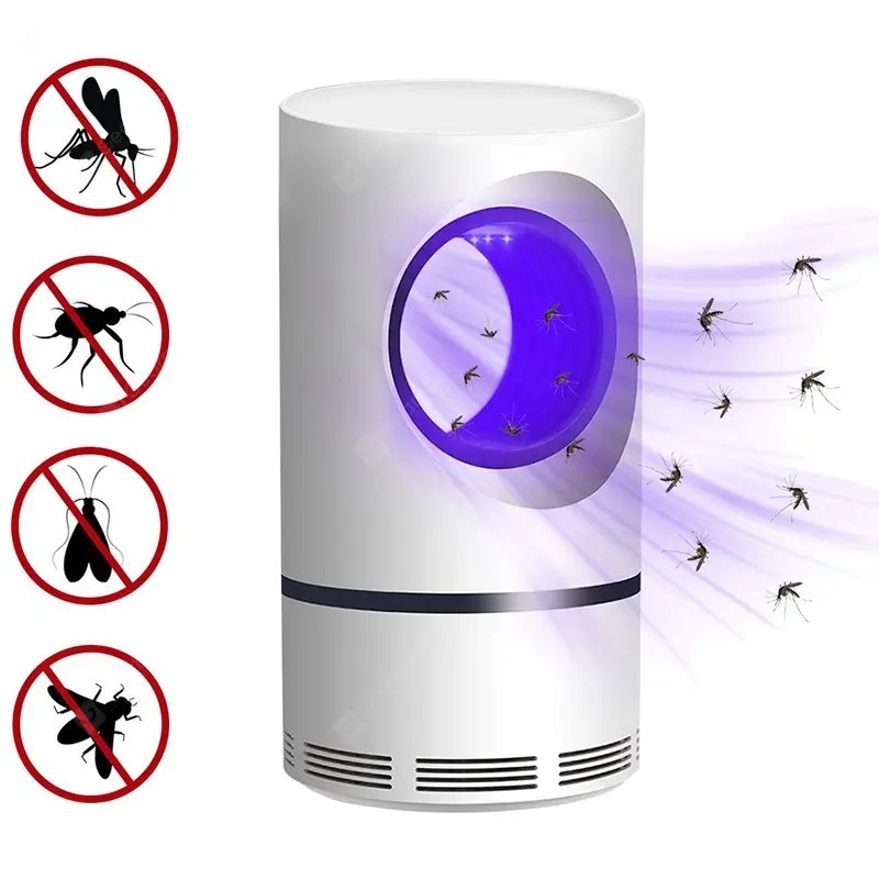 Gearbest USB Powered Insect Killer Non-Toxic UV LED Mosquito Trap Lamp Protection Super Silent - China