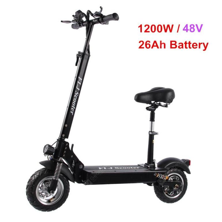 FLJ C11 1200W 10inch wheel Electric Scooter with seat electric bike hoverboard e scooter for adult - 26Ah battery with seat Germany  (entrepôt EU)   5%commissions - 820.97€