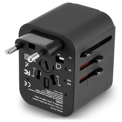 International Multifunctional 4 USB Port Travel Charger Adapter