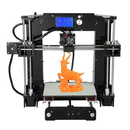 Gearbest Anet A6 3D Desktop Printer Kit - BLACK EU PLUG LCD Screen Display with TF Card Off-line Printing Function