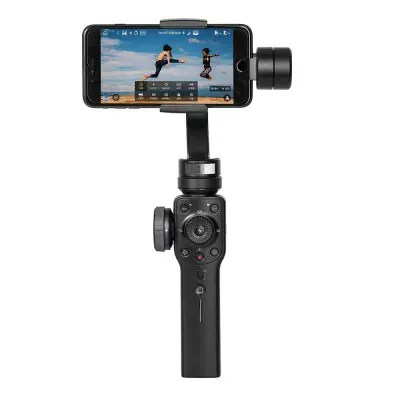 Gearbest Zhiyun Smooth 4 Handheld Gimbal PhoneGo Mode - BLACK Focus Pull and Zoom