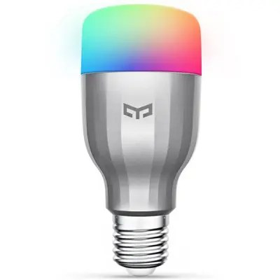 Gearbest Yeelight YLDP02YL AC220V RGBW E27 Smart LED Bulb - SILVER 1PC 16 Million Colors 1700 - 6500K WiFi Enabled Work with Amazon Alexa MIJIA IFTTT Support Open API Support Google Home