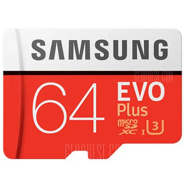 Gearbest Original Samsung UHS-3 64GB Micro SDXC Memory Card - CHESTNUT RED 64GB