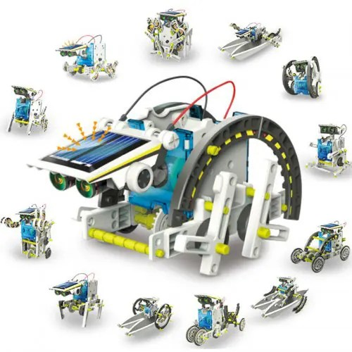13 in 1 Kids DIY Assembled Solar Robot Toys