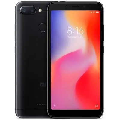 Gearbest Xiaomi Redmi 6 5.45 inch 4G Smartphone Global Edition - BLACK 4GB RAM 64GB ROM 12.0MP + 5.0MP Rear Camera Fingerprint Sensor