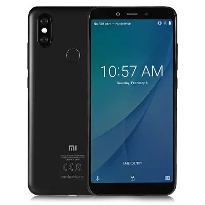 Gearbest Xiaomi Mi A2 4G Phablet Global Edition - BLACK 4GB RAM 64GB ROM 12.0MP + 20.0MP Rear Camera Fingerprint Sensor