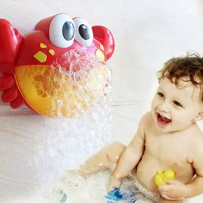 Gearbest Crab Music Bubble-blowing Bathing Machine for Kids - FIRE ENGINE RED