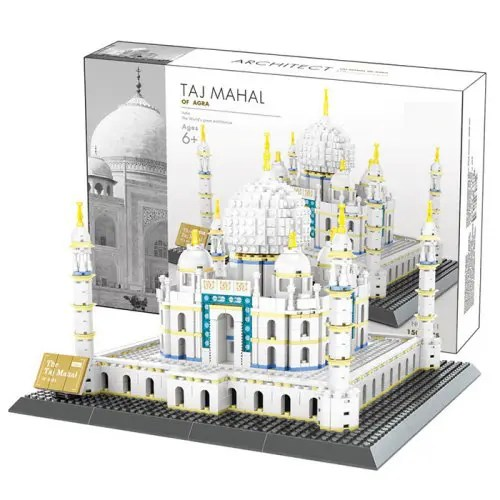 WANGE Agra Taj Mahal / New York Empire State Building Block Toy for Entertainment