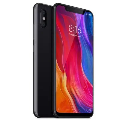 Gearbest Xiaomi Mi 8 MIUI 9 4G Phablet International Version - BLACK 6GB RAM 64GB ROM 20.0MP Front Camera Fingerprint Sensor