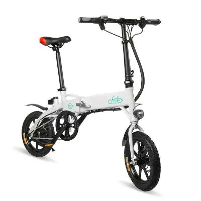 Gearbest FIIDO D1 Folding Electric Bike Moped Bicycle E-bike - WHITE 7.8AH BATTERY Power Assist System / Aluminum Alloy