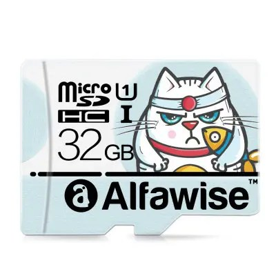 Gearbest Alfawise 32GB Micro SD Class 10 UHS-1 Memory Card - LIGHT BLUE 80MB/s High Speed Super Fast Data Transfer