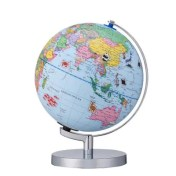 9 inch AR 3D Desktop World Globe with Blue Oceans Interactive Toy