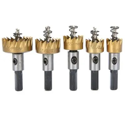 Gearbest Hole Saws Tooth Cutter Drill Bit 5pcs