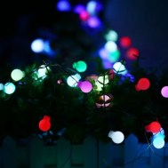 10m 50 LED Colorful USB Interface High Brightness Slow Flash Ball String Light for Decoration