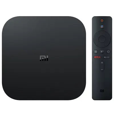 Gearbest Xiaomi Mi Box S with Google Assistant Remote