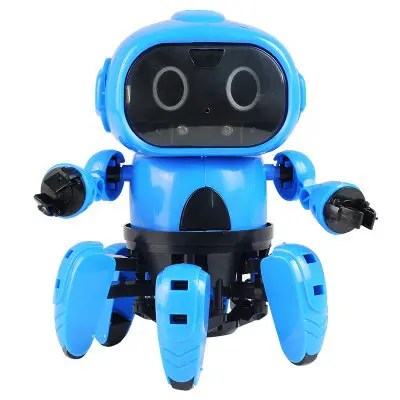 DIY Assembled Electric Robot Induction Educational Toy DODGER BLUE