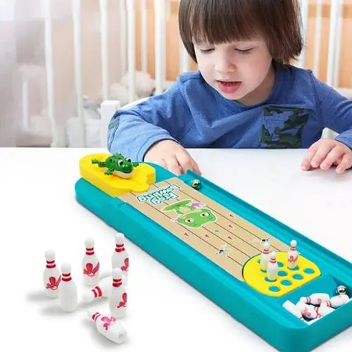 Creative Mini Frog Bowling Table Interactive Toy