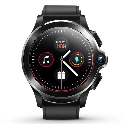 KOSPET Prime SE Face ID Dual Cameras 4G Smartwatch Phone 1260mAh Battery 1.6 inch IPS Screen Android 1GB RAM 16GB ROM IP67 Waterproof Men Smart Watch Support Google Voice