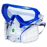 Integrated Dustproof Windproof Mask Comprehensive Mask Labor Protection Dustproof Mask with Goggles