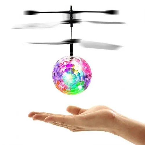 Induction Flying Ball Helicopter Toy Flash Light Gift for Kids