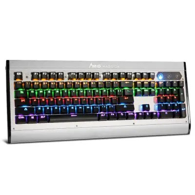 Gearbest Madgiga K380 Mechanical Gaming Keyboard - SILVER AND BLACK