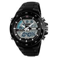SKMEI Sports Men Fashion Casual Digital Quartz Alarm Military Watch