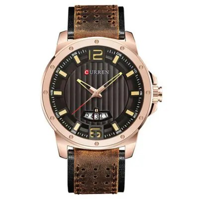 CURREN 8293 Brand Luxury Waterproof Date Top Leather Band Men Watch