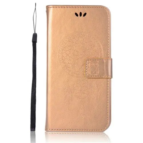Owl Wind Chimes Wallet PU Flip Leather Cover for Asus Zenfone 5 ZE620KL Case