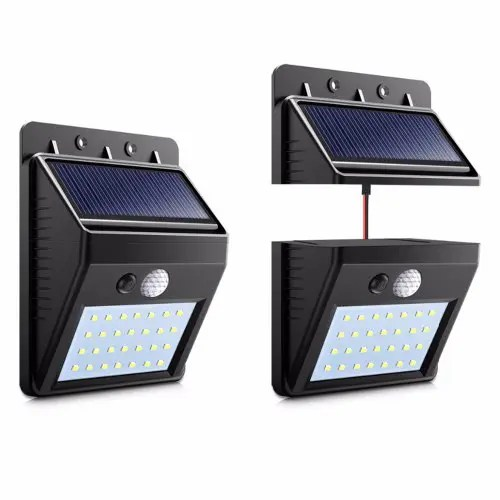 LED Solar Separable Wall Lamp Motion PIR Sensor Solar Light Outdoor Indoor