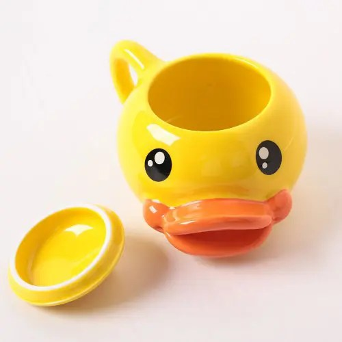 Lovely 3D Duck-Mouth Cup Coffee Mug Cartoon Ceramics Cup