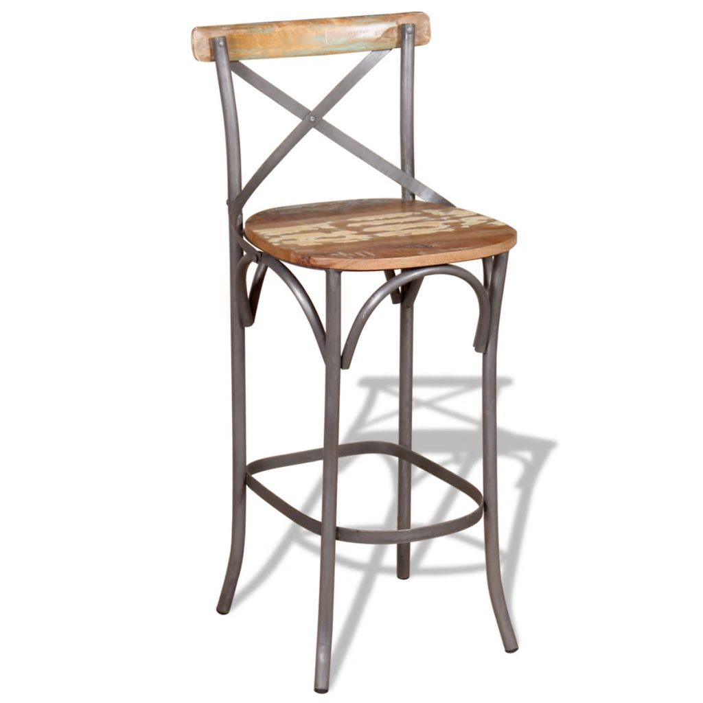 Bar Chair Solid Reclaimed Wood Sale Price Reviews Gearbest