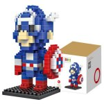 LOZ 190Pcs M - 9159 Captain America Building Block Educational Assembling Boy Girl Gift for Sparking Imagination