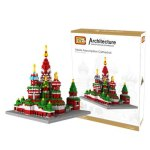 LOZ 1870Pcs 9375 Vasily Cathedral Building Block Educational Toy for Cooperative Ability - World Great Architecture Series