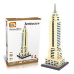 LOZ 910Pcs 9388 Empire State Building Assembling Block Educational Toy for Cooperative Ability - World Great Architecture Series