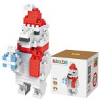 LOZ 140Pcs M - 9122 Christmas Polar Bear Building Block Educational Toy for Brain Thinking