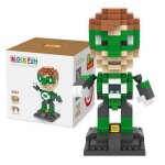 LOZ 260Pcs L - 9454 Green Lantern Action Figure Building Block Educational Toy for Brain Thinking