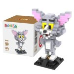 LOZ 290Pcs L - 9445 Tom and Jerry Cat Figure Building Block Educational Toy for Brain Thinking