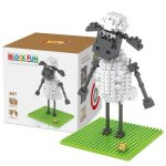 LOZ 230Pcs L - 9477 Shaun the Sheep Standing Version Building Block Toy for Enhancing Social Cooperation Ability