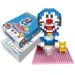 LOZ 340Pcs XXL-9806 Doraemon Bathroom Building Block Toy for Enhancing Social Cooperation Ability