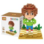 370Pcs LOZ 9490 Crazy Alien Tip Tucci Figure Building Block Toy for Enhancing Social Cooperation Ability