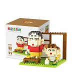 LOZ 9464 Mini Crayon Shin-chan Diamond Building Block 330Pcs Educational Toy