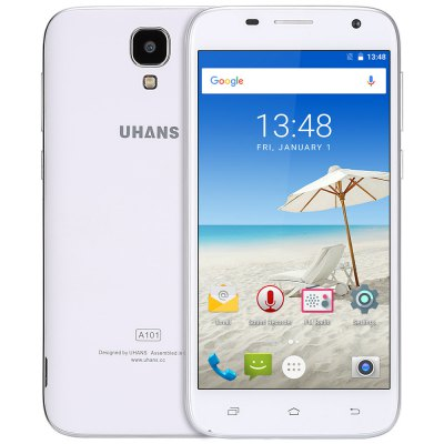 gearbest UHANS A101 MTK6737 1GHz 4コア WHITE(ホワイト)
